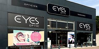 Eyes Optic Narbonne est un opticien à prix réduits qui vend des lunettes, des solaires et des montures à petits prix.(® SAAM fabrice Chort)